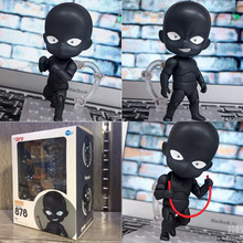 Nendoroid 878 BlackMan Mystery Man Hannin Anime Detective Conan BJD Cute Figure Toys