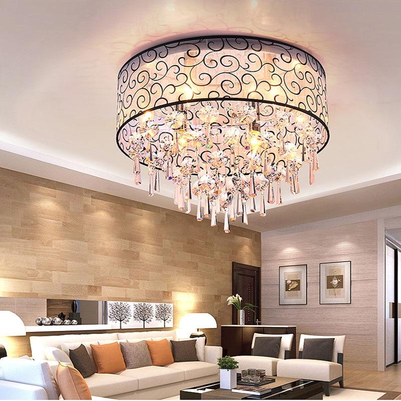 Modern Luminarias Para Sala Teto Abajur Crystal Ceiling