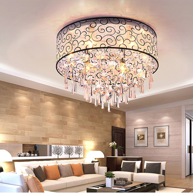 Modern Luminarias Para Sala Teto Abajur Crystal Ceiling ...