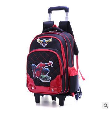где купить Rolling backpack with wheels boys wheeled School backpack Children School Trolley Bag Travel Trolley backpack for kids Mochila по лучшей цене