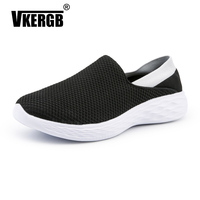 VKERGB Vulcanized Shoes Male Sneakers 2019 Luxury Brand men Sneakers Fashion Street Style Daddy Air Mesh Breathable Round Shoes