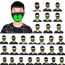 EY 1 шт. хлопок Анти-пыль лицевая маска флуоресцентный наушник Мода ветрозащитный чехол