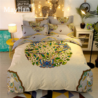 Home Textile 4pcs Bedding Sets Duvet Cover Bed Sheet Pillow Cover Polyester/cotton Autumn Winter Warm Brand 2018 Ben205