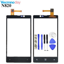 "Vecmnoday Original High Quality 4.3"" For Nokia Lumia 820 N820 Touch Screen Digitizer Sensor Front Glass Lens panel + tools"