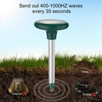 2pcs Mole Repellent Solar Power Ultrasonic Gopher Mole Snake Bird Mosquito Mouse Ultrasonic Pest Repeller Control Garden Yard