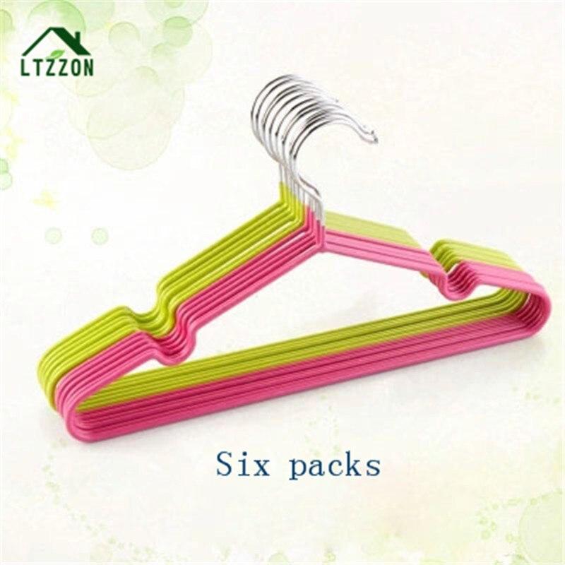 6 Packs Anti-slip Children s Clothes Hanger Baby Hanger Pants Racks Dryers Racks 2 colours