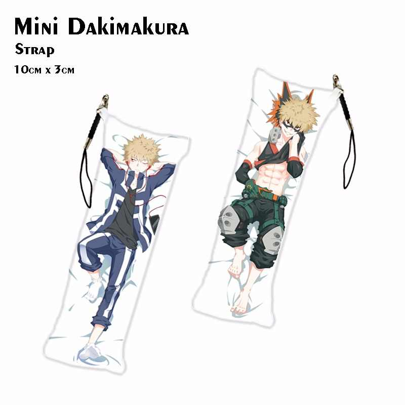 Mijn Hero Academia TODOROKI SHOTO Mini Dakimakura Anime Katsuki Bakugo Sleutelhanger DIY Hanger Sleutelhanger Sleutelhangers Drop Schip