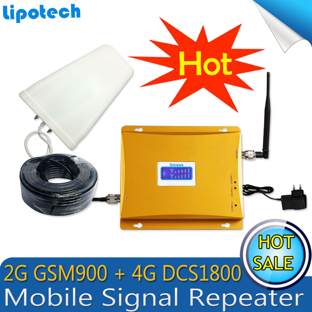 Lintratek GSM 900 4G LTE 1800 (FDD Band 3) Dual Band Repeater 65dB - Reservdelar och tillbehör för mobiltelefoner