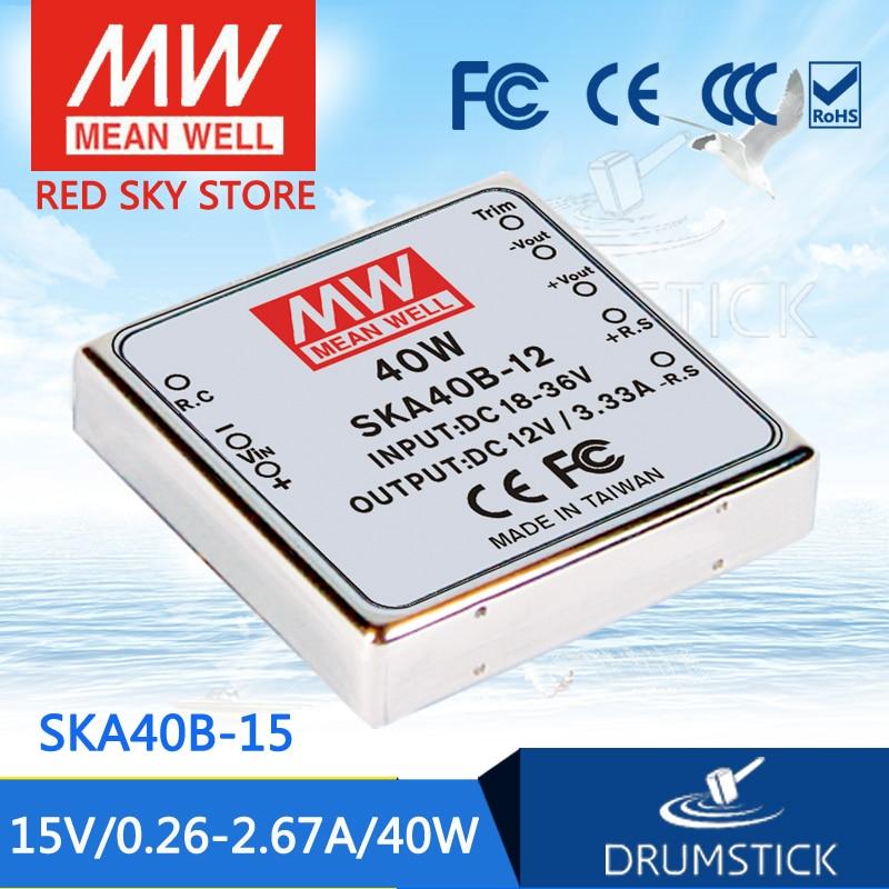 Genuine MEAN WELL SKA40B-15 15V 2.67A meanwell SKA40 15V 40W DC-DC Regulated Single Output Converter стул кедр адмирал ska 01