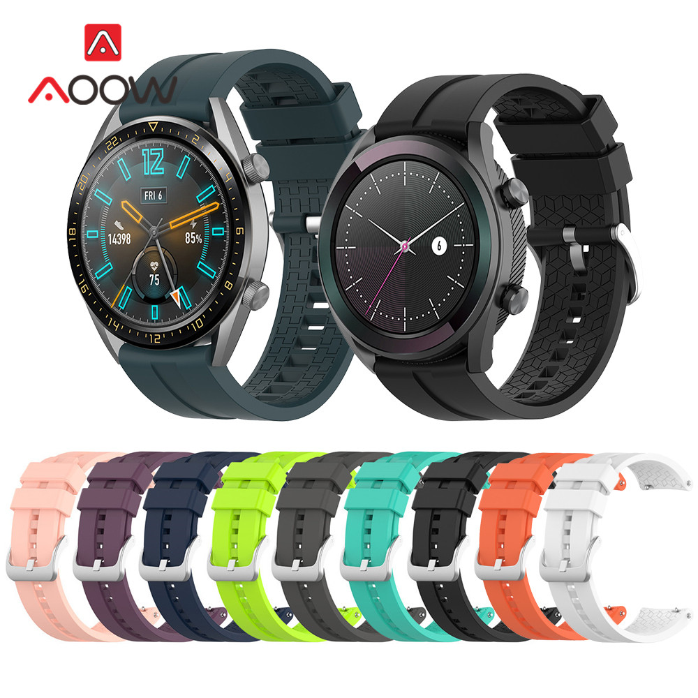 Soft Sport Silicone Strap 22mm For Huawei Watch GT 2 Active / Elegant Honor Magic Quick Release Bracelet Band For Smart Watch