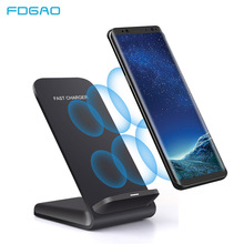 FDGAO 10W 9V Quick Qi Wireless Charger for iPhone XS Max XR X 8 Plus Fast Charging Stand Samsung S10 S9 S8 Note 9