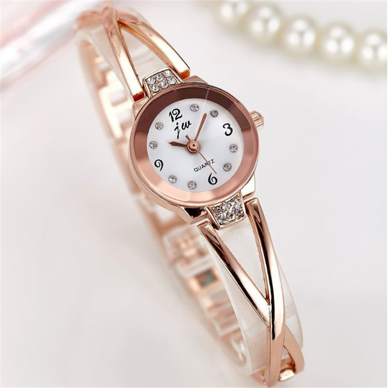 New Fashion Rhinestone Watches Women Luxury Brand Stainless Steel Bracelet watches Ladies Quartz Dress Watches reloj mujer Clock 1