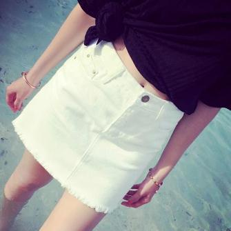 Popular Denim Skirt White-Buy Cheap Denim Skirt White lots from ...