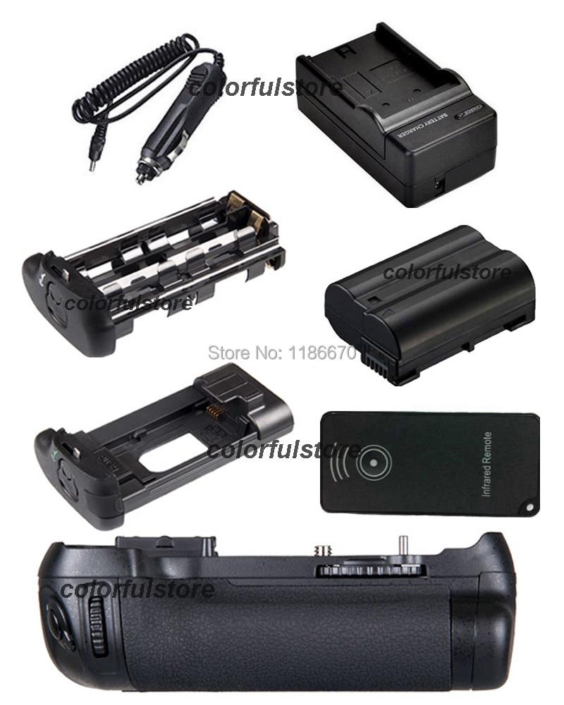 New Arrive Battery Handle Grip Pack Vertical Shutter For Nikon D600 D610 Camera as MB-D14 MBD14+IR Remote+1x EN-EL15+Car Charger new arrival battery handle hand grip pack holder vertical power shutter for nikon d750 camera as mb d16 2 x en el15 car charger