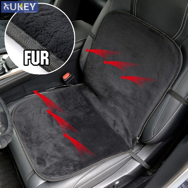 Deluxy Soft Fur Heated Car Seat Cushion Warmer Cover Mat Winter Heater