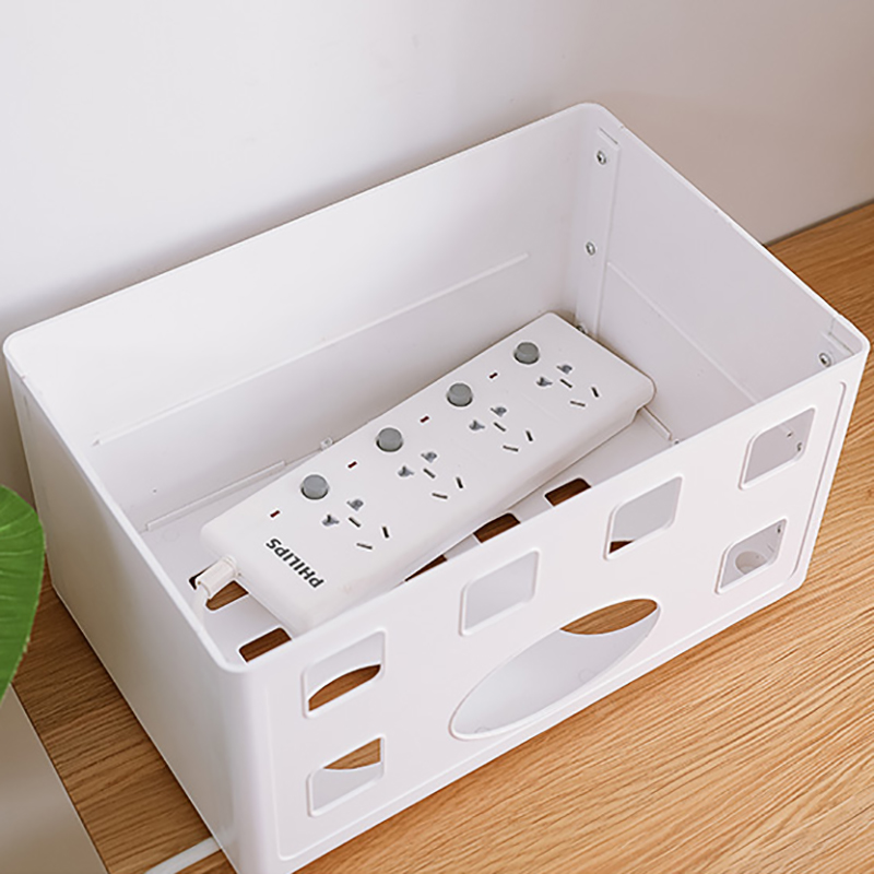 050 Home Double deck hollow radiation drain and plug in power line router receiving box cablebox in Storage Boxes Bins from Home Garden
