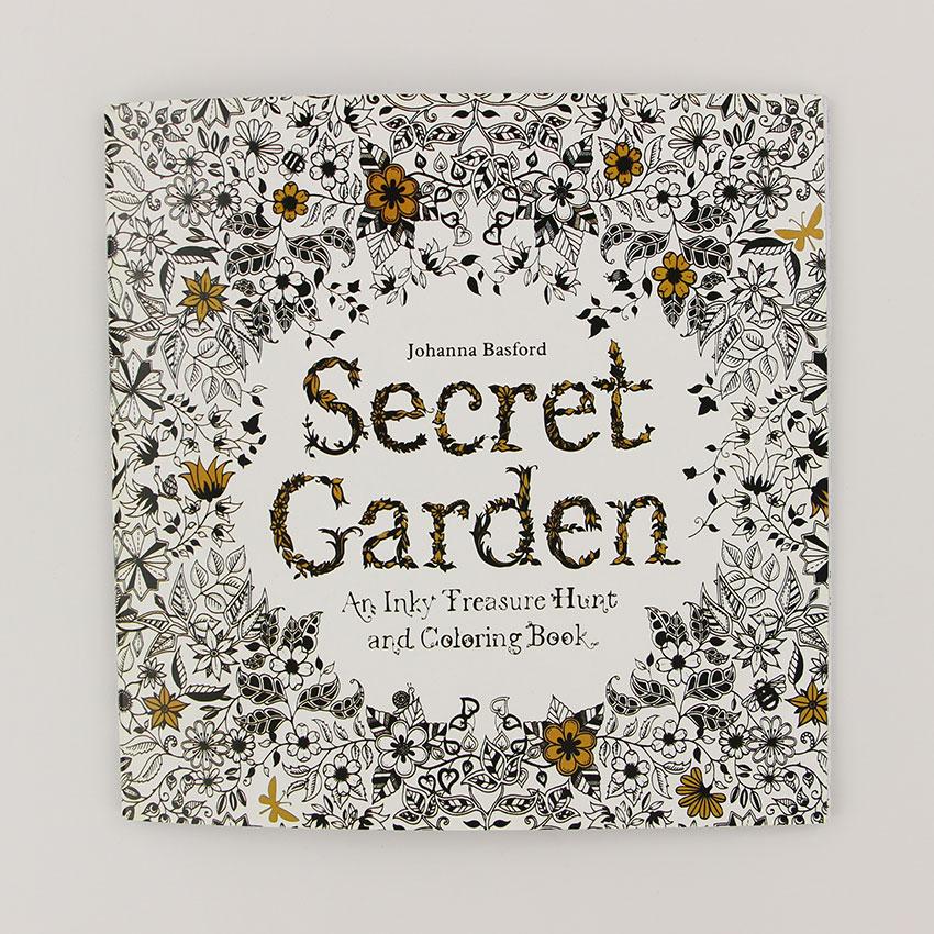 24 страницы секретный сад английское издание раскраска для детей и взрослых снять стресс убить время живопись книга для рисования