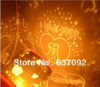 Free shipping Romantic LED Star Projector Lamp Christmas Special Gifts Sweet Lover