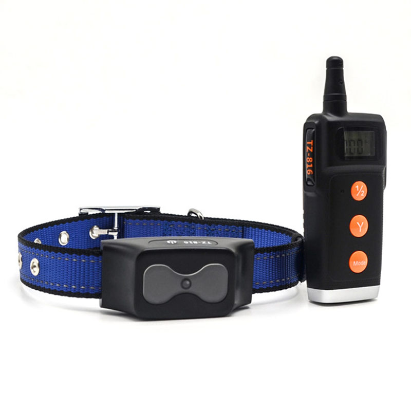 Pet Dog Electronic Vibration Collar Dog behavior anti bark training collar Waterproof Remote Control Dog Device Charging-in Training Collars from Home & Garden    1