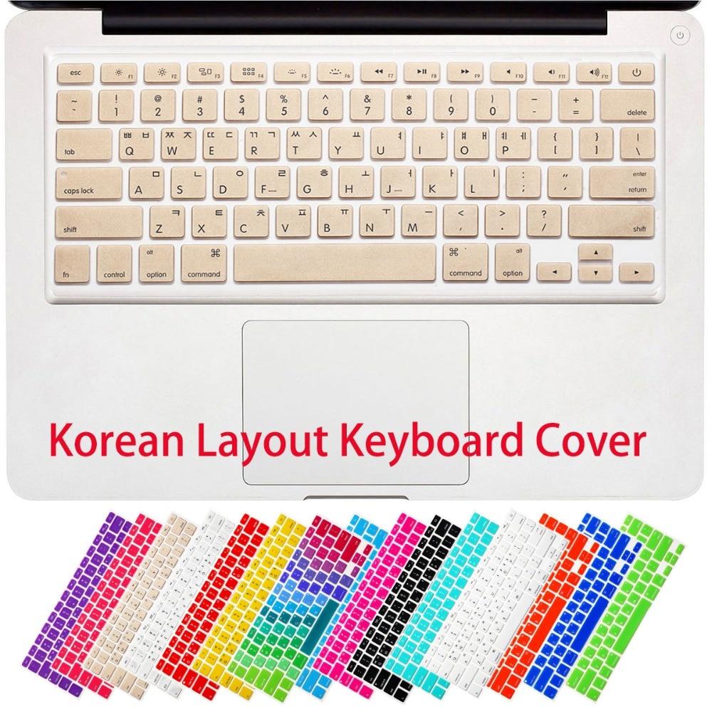 RYGOU koreai betűk billentyűzetfedél MacBook Air 13 Pro 13 15 17 - Laptop kiegészítők - Fénykép 6