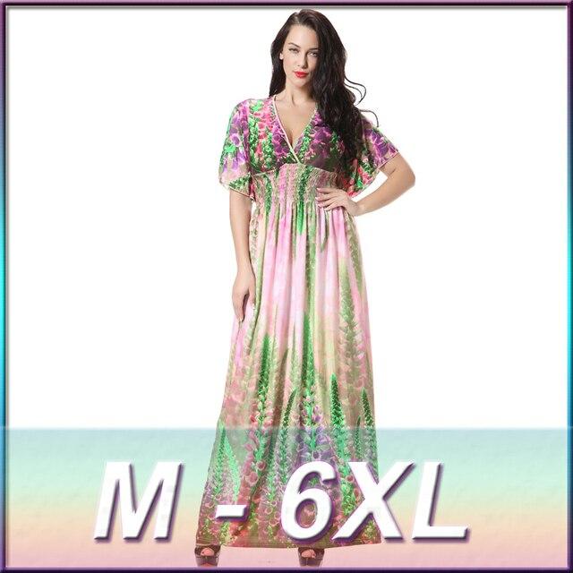Summer Women Casual Dress Plus Size Beach Dresses Floral Bohemian ...
