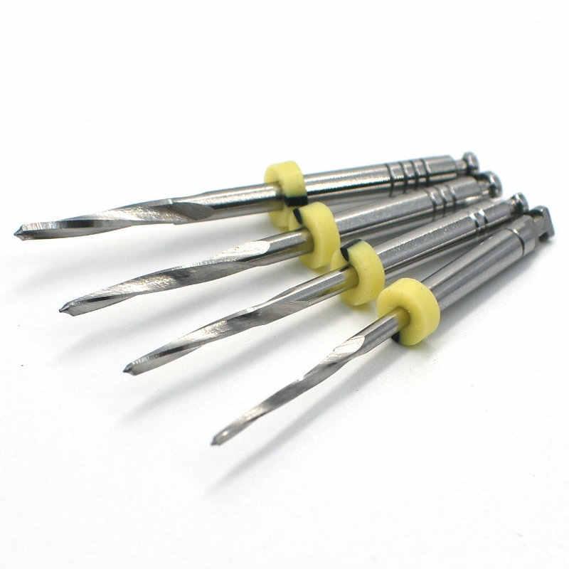 Dental de acero inoxidable brocas de acero fresa dental para poste de fibra dental Laboratorio Clínico material 4 Uds en paquete