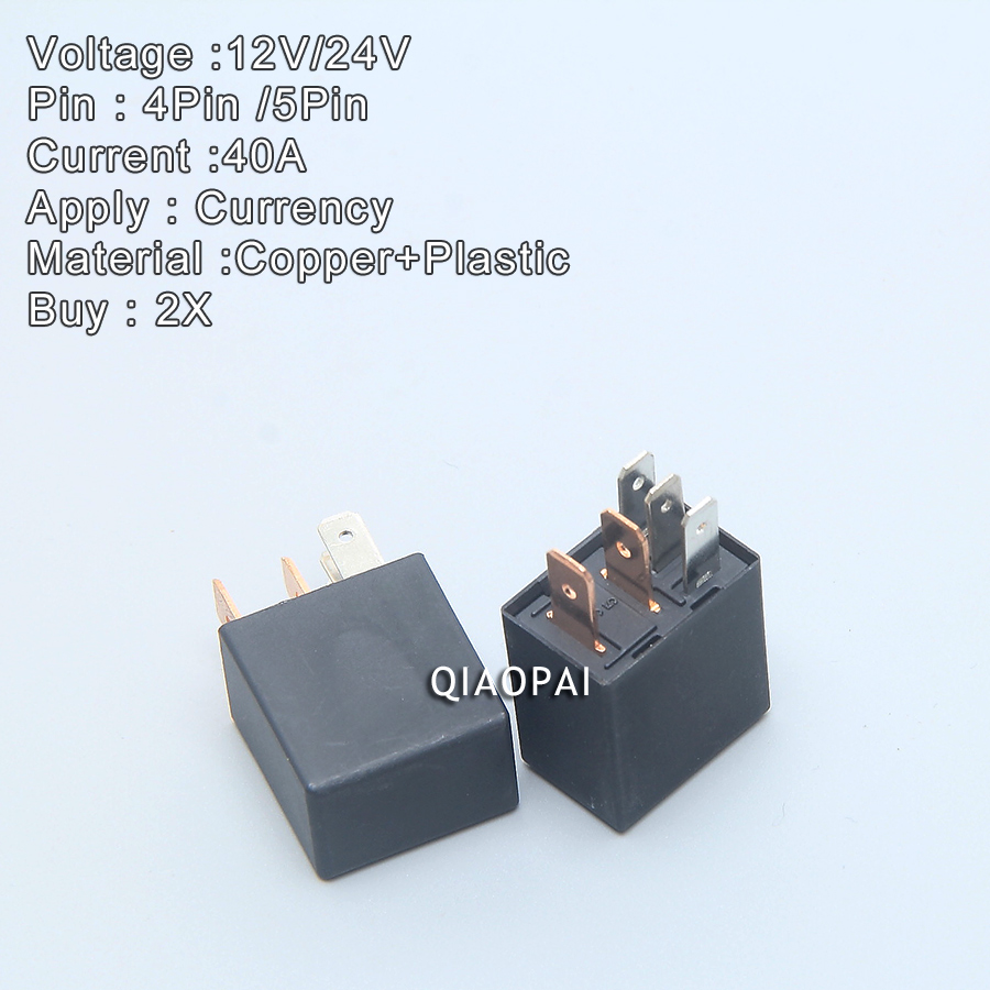 Universal 4 Pin 5 Violet Automotive Relay Dc 12v 24v 40a Fog Lamp Oil Pump Refires Air Conditioning Car In Switches Relays From