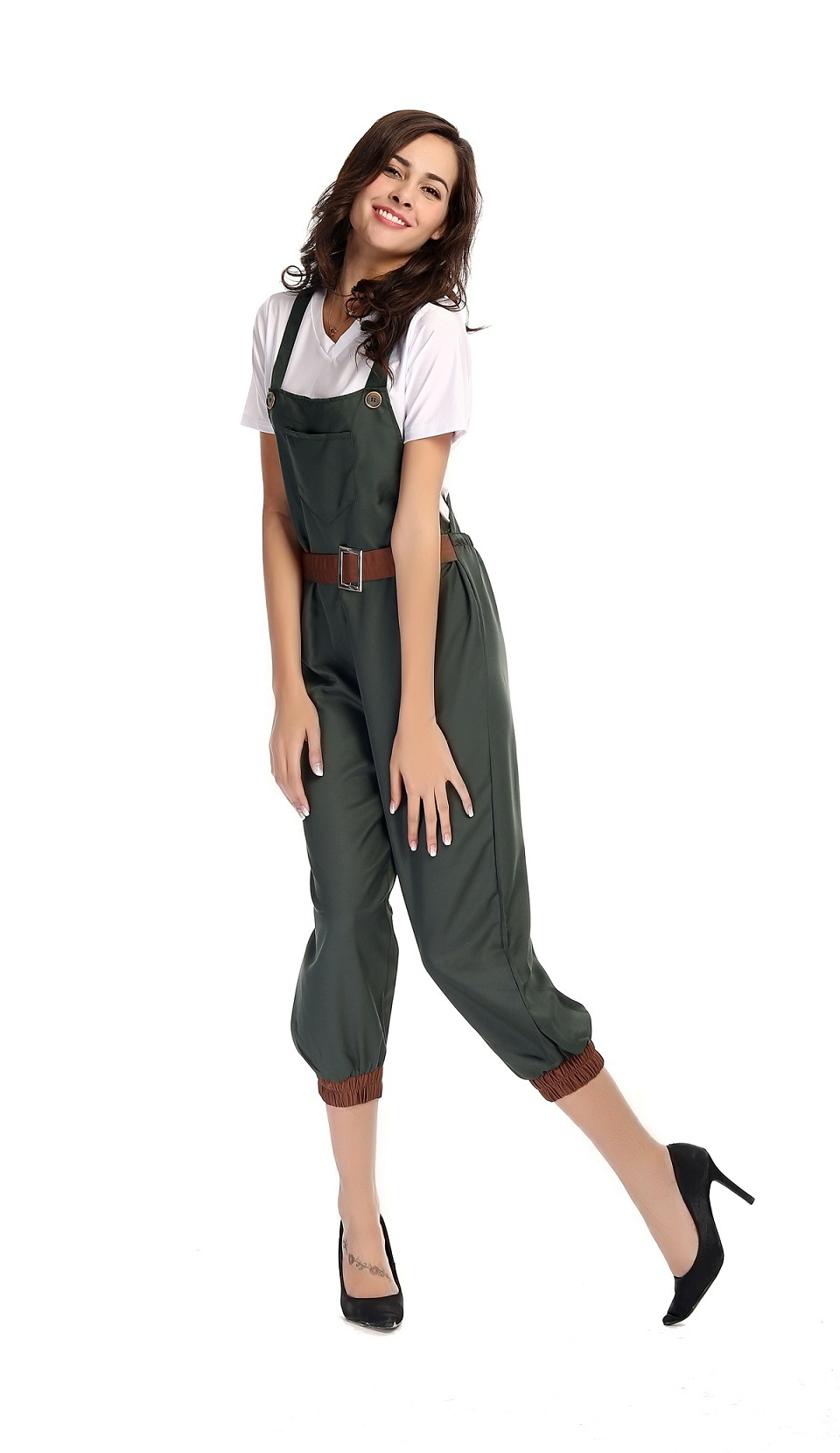 halloween dress female farmer workers cosplay costume installed ...
