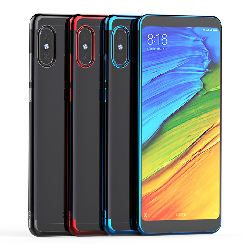 For Redmi note 6 7 Pro Full Protection Phone Case Plating Soft Case for Xiaomi Redmi note 5 Pro note 6 7 Transparent Case Cover in Fitted Cases from Cellphones Telecommunications