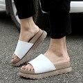 2017 Novos sapatos de mulher Sandálias Flat PU de Couro Sandálias Romanas Sapatos de Verão Flip-flop Chinelo Mulheres Sapatos tamanho 34-43 ML03