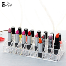 Acrylic Crystal Cosmetic Organizer Case Clear Makeup Drawer Jewelry Cosmetic Storage Display Box Stand Rack Holder 24 Grid