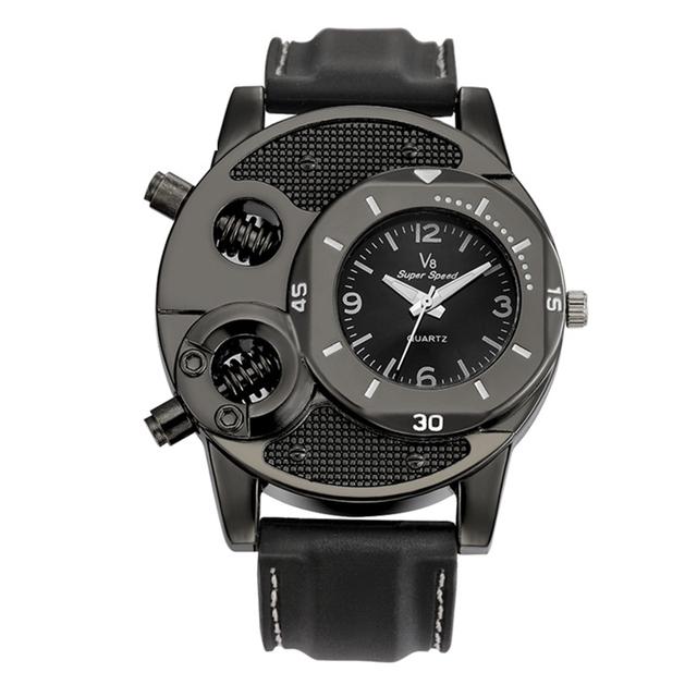 Creatively Designed Durable Stainless Steel Steampunk Quartz Wristwatch