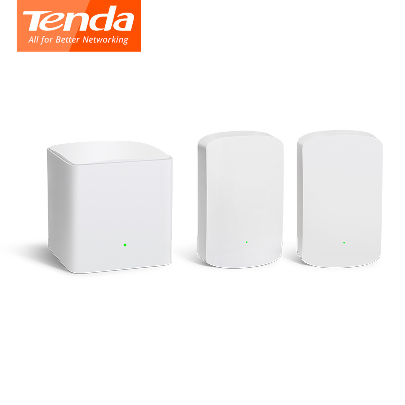 Tenda Nova Mesh WiFi System MW5 Gigabit Wifi Router AC1200 Dual-Band For Whole Home Coverage Wi-fi Repeater, APP Remote Manage
