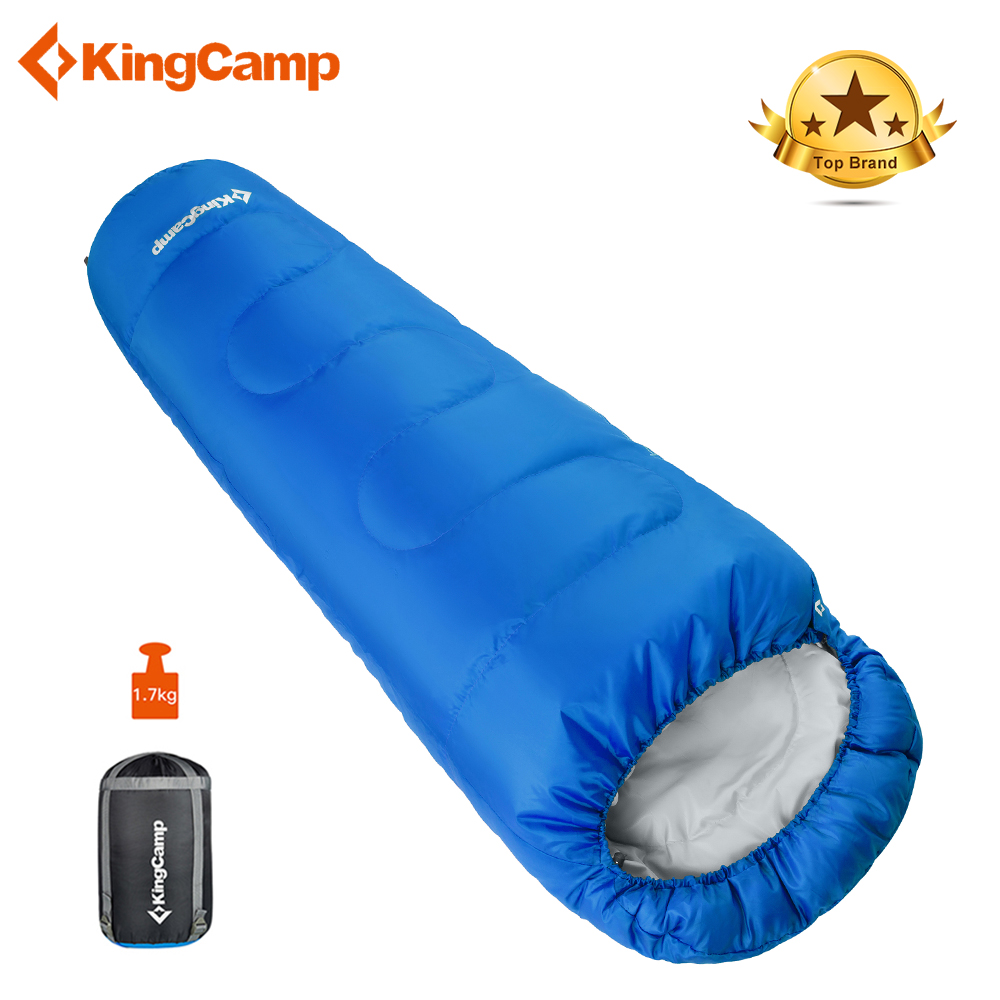 KingCamp Ultralight Portable Mummy Sleeping Bag Camping Adult Cotton Winter Warm Lazy Bag Outdoor Double Sleeping Bags 215*80*55 kingcamp ultralight lazy bag mummy portable waterproof 2 season sleeping bag for camping backpacking