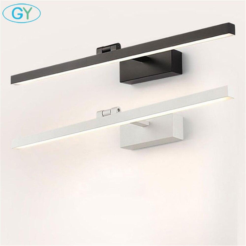 L40cm L60cm L70cm L90cm L110cm وحدة إضاءة LED جداريّة مصباح مرآة حمام ضوء للماء أكريليك حديث جدار مصباح أضواء الحمام AC85-265V