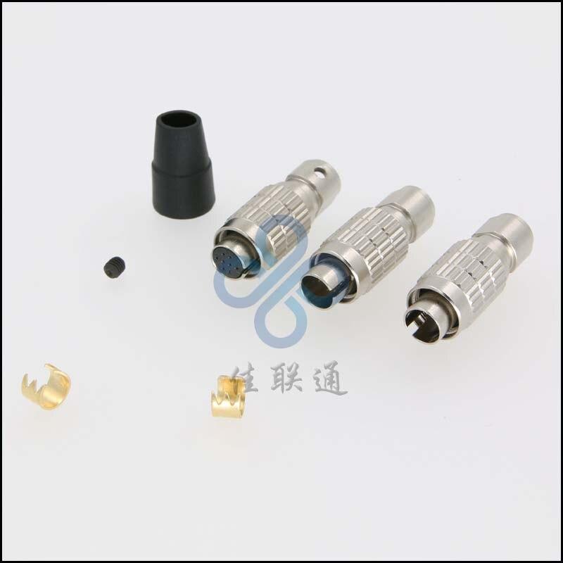 Hirose 8 pins HR25 HR25-7TP-8P HR25-7TP-8S  metal push pull self latching circular connector