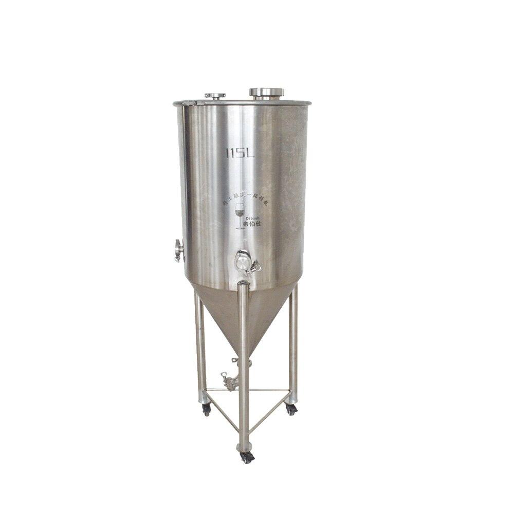 Réservoir conique de Fermentation de cuve de brassage de baril d'acier inoxydable de 115L
