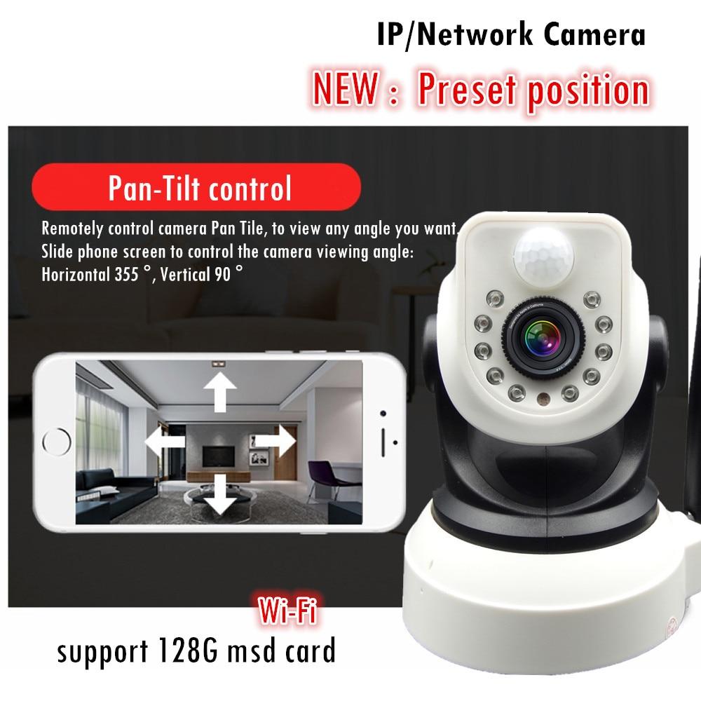 ФОТО support Preset Wireless IP Camera Wifi  720P HD CCTV CAMERA Audio Mega P2P Baby monitor Network IR-CUT Night Vision Record PT