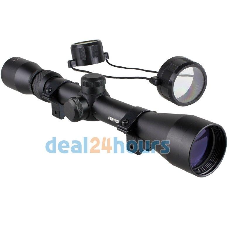 New Scope 3 9x40 Tactical Rifle Optics Sniper Scope Reviews Sight Hunting Scopes Black Rail Mount
