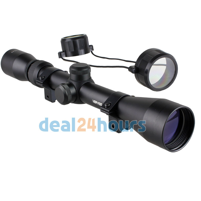 New Scope 3-9x40 Tactical Rifle Optics Sniper Scope Reviews Sight Hunting Scopes Black Rail Mount 11mm Free Shipping!