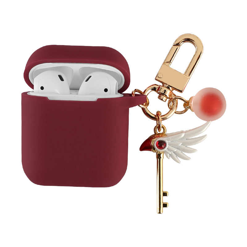 Charming Silicone Case for Apple Airpods Bluetooth Wireless Earphone Accessories Air pods Headphone Protective Cover with Hook
