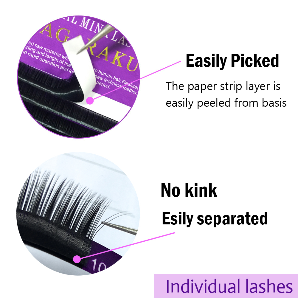 Image 4 - NAGARAKU 5cases set high quality mink eyelash extension,fake eyelash extension,individual eyelashes,nature eyelashes-in False Eyelashes from Beauty & Health