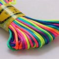 2.5mm 20m/pack Soft Satin Rattail Korean Silk Macrame Cord Nylon For Diy Bracelet Necklace Jewelry Findings Accessories SL340