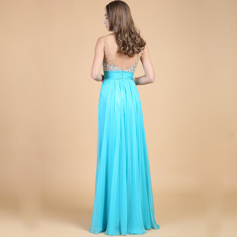 LIVA KıZ En Kaliteli Elmas Uzun Elbise Gelinlik Backless Artı - Bayan Giyimi - Fotoğraf 2