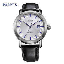 Parnis 42mm White Dail with Dark Bule Markds Business Automatic Men s Watch