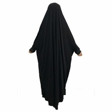 Women Prayer Garment One-piece Prayer Dress Abaya Jellaba Islamic Clothing Hijab for Hajj Umrah 160cm/63 inches
