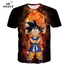 YK UNCLE Dragon Ball Men T shirt Goku 3D Printing T-shirt Anime Tee Male Top Summer Streatwear Unisex Hip Hop Camiseta Drop Ship