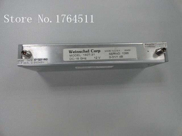[BELLA] Weinschel 150T-30 DC-18GHZ 0-31dB 12V Programmable Step Attenuator SMA