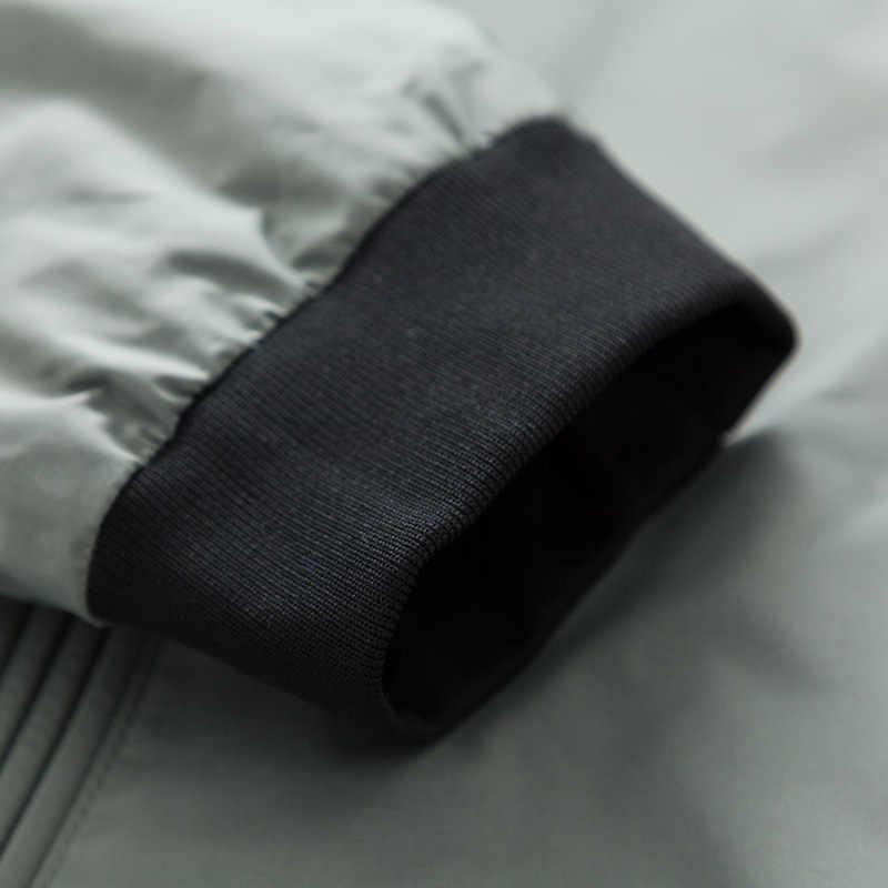 SEMIR мужская двусторонняя куртка с воротником-стойкой, мужская бейсбольная куртка, куртка-бомбер на молнии, Мужская модная уличная одежда
