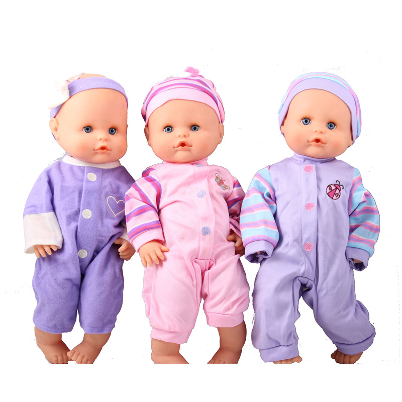 Doll Clothes 36cm Famosa Nenuco Doll Nenuco Ropa Baby Realistic Reborn Doll Accessories 3 Jumpsuits For 14inch Nenuco Doll